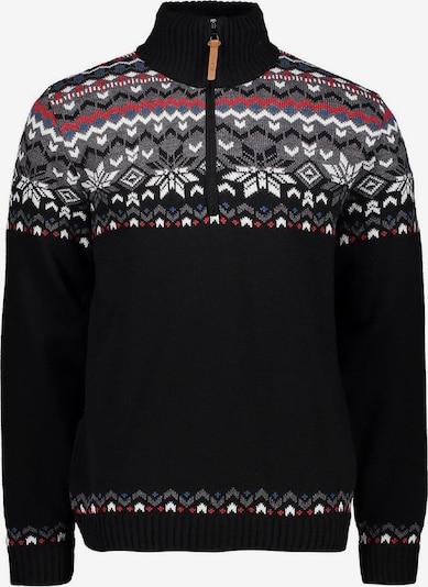 CMP Pullover in grau / hellrot / schwarz / weiß, Produktansicht