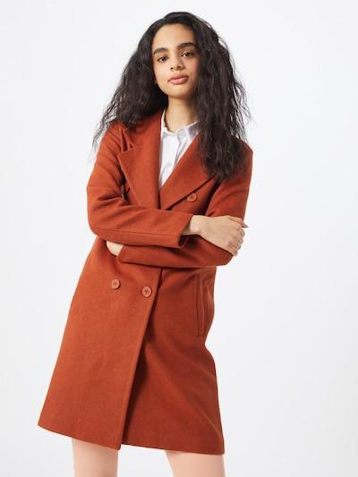 Rudeninis-žieminis paltas iš Trendyol , spalva - oranžinė-raudona, Modelio vaizdas