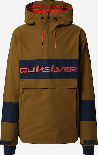 QUIKSILVER Outdoorjas 'STEEZE' in de kleur Navy / Lichtbruin, Productweergave