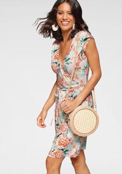 LAURA SCOTT Sommerkleid in beige / grün / mischfarben / rosé, Modelansicht