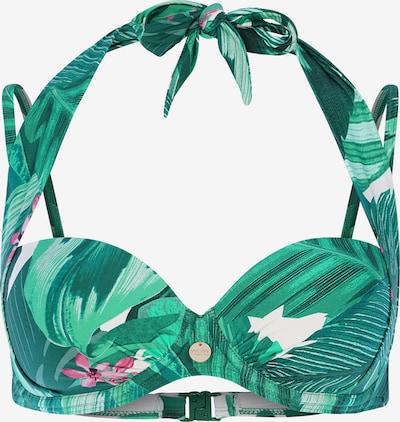 TC WOW Bikinitop in grün / jade / cyclam / weiß, Produktansicht