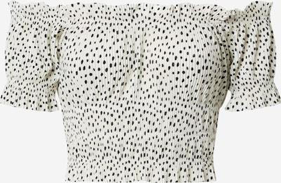 Gina Tricot T-shirt 'Elisia' en noir / blanc, Vue avec produit