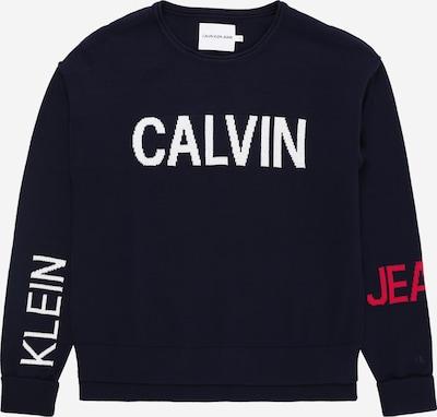 Calvin Klein Jeans Pullover in nachtblau / rot / weiß, Produktansicht