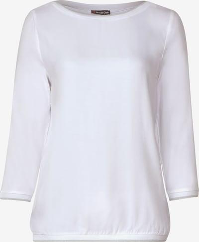 STREET ONE Shirt 'Cia' in silbergrau / offwhite, Produktansicht