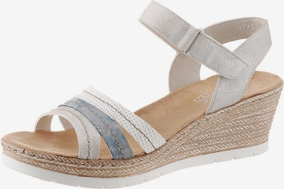 RIEKER Strap sandal in Blue / Silver / White, Item view