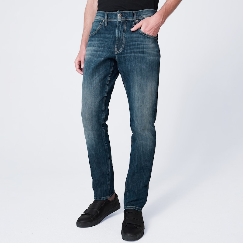 Harlem Soul Jeans in blue denim, Modelansicht