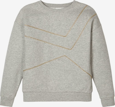NAME IT Sweatshirt in gold / graumeliert, Produktansicht