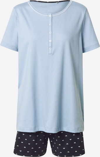 CALIDA Pyjama in hellblau / dunkelblau, Produktansicht