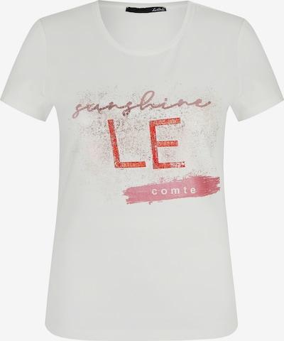 Lecomte Shirt mit Glitzer-Effekt und Logo-Print in weiß, Produktansicht