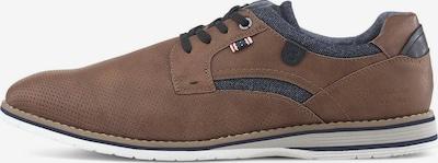 TOM TAILOR Shoes Schnürschuh mit Details in braun, Produktansicht