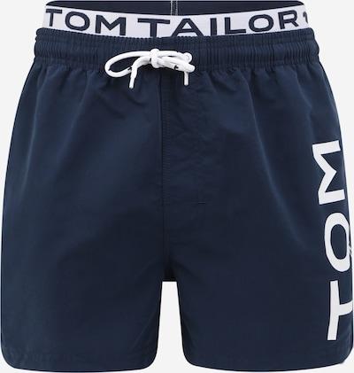 TOM TAILOR Badeshorts 'Jo' in navy / weiß, Produktansicht