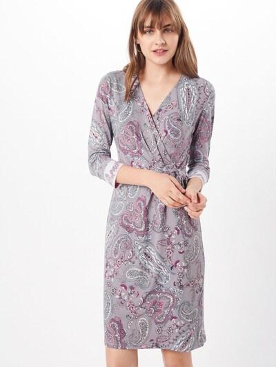 COMMA Kleid in kitt / opal / pastelllila / hellpink / weiß, Modelansicht