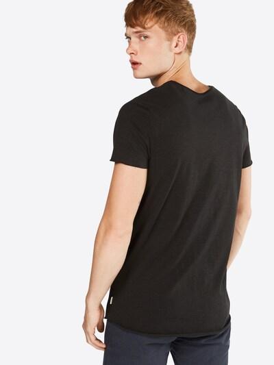 JACK & JONES T-Shirt 'JJEBAS TEE SS U-NECK NOOS' in schwarz: Rückansicht