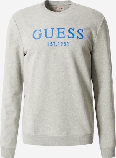 GUESS Sweatshirt 'BASTIAN' in himmelblau / hellgrau, Produktansicht