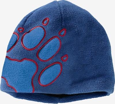 JACK WOLFSKIN Fleecemütze 'FRONT PAW' in blau / rot, Produktansicht