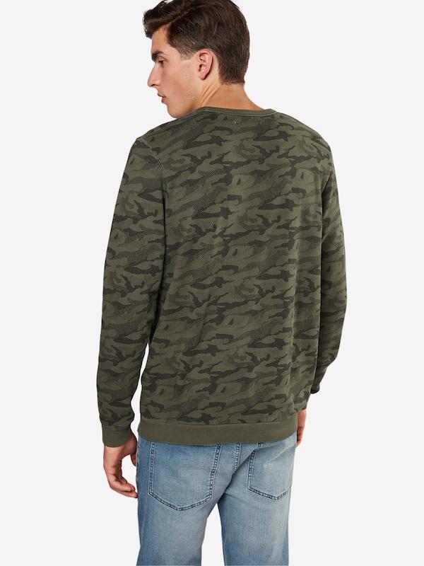 TOM TAILOR DENIM Sweater 'crewneck sweat w.camouflage'