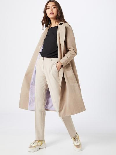 s.Oliver Pantalon à plis en crème, Vue avec modèle