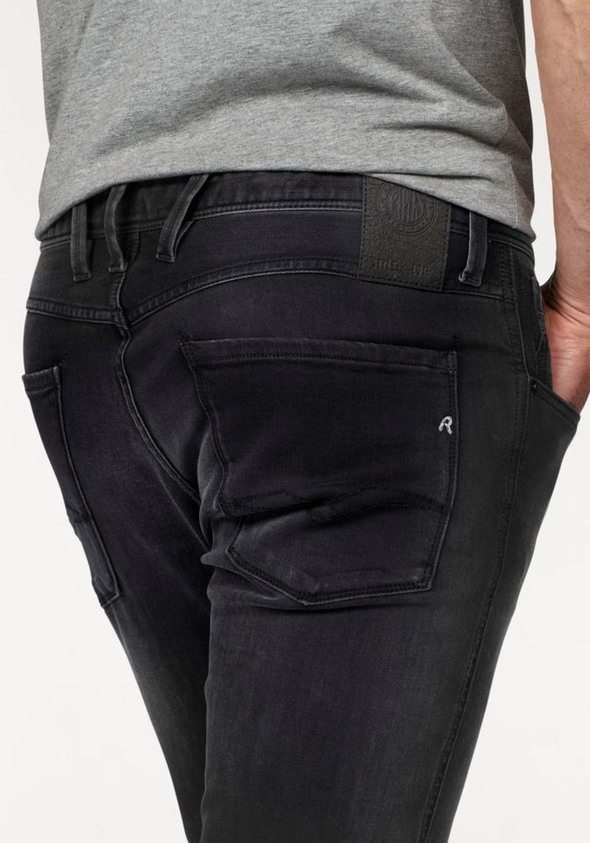 fit In Replay jeans Slim 'anbass' Schwarz dCBxroe
