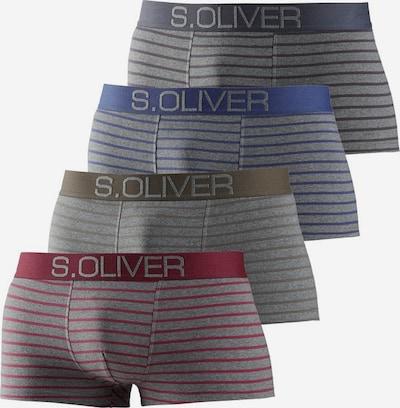 s.Oliver Hipster (4 Stück) in taubenblau / grau / khaki / rot, Produktansicht