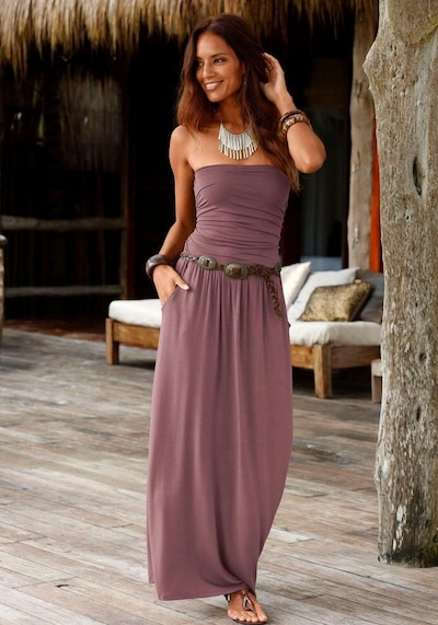 LASCANA Kleid in braun, Modelansicht