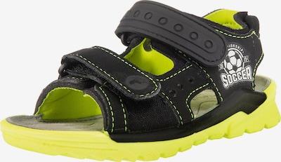 RICOSTA Sandale 'Soccer' in kiwi / schwarz / weiß, Produktansicht
