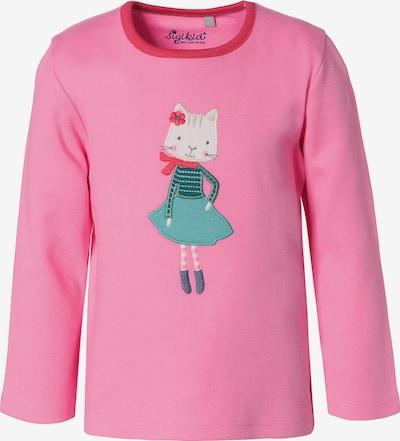 SIGIKID Shirt in jade / pitaya / dunkelpink / weiß, Produktansicht