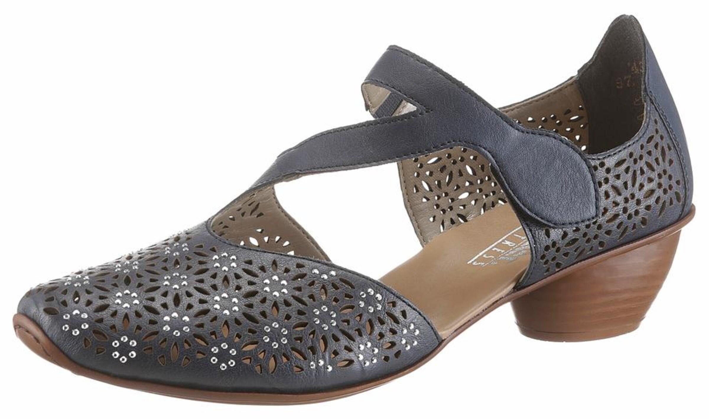 RIEKER Spangenpumps Verschleißfeste billige Schuhe Hohe Qualität