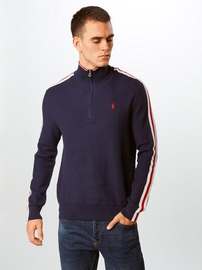 POLO RALPH LAUREN Sweter w kolorze niebieski / czerwonym, Podgląd na modelu(-ce)