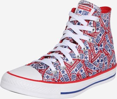 CONVERSE Sneaker 'CTAS HI' in blau / rot / weiß, Produktansicht