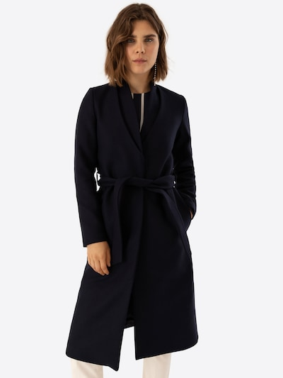 IVY & OAK Mantel 'Double Collar Coat' in navy: Frontalansicht
