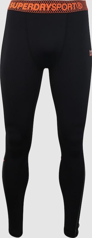 Superdry Superdry Superdry Sport-Hosen 'ACTIVE LEGGING' in Orange   schwarz  Neue Kleidung in dieser Saison 64c241