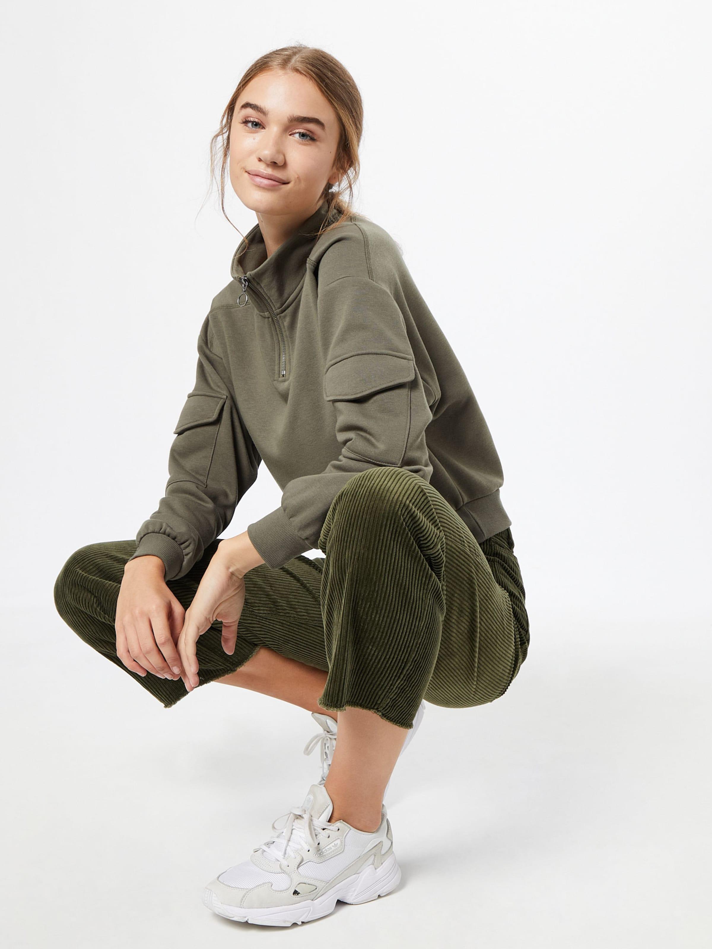 Noisy may Sweatshirt i oliv