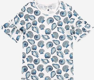 Tricou BLUE SEVEN pe albastru / alb, Vizualizare produs