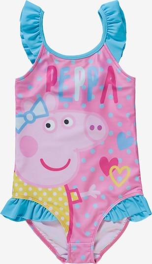 Peppa Pig Badeanzug in hellblau / gelb / rosa, Produktansicht