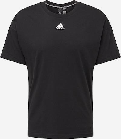 ADIDAS PERFORMANCE Funkční tričko - černá / bílá: Pohled zepředu