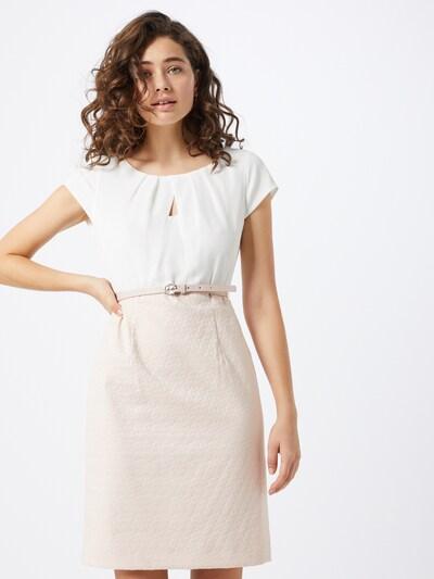 COMMA Kleid in beige / altrosa / weiß, Modelansicht
