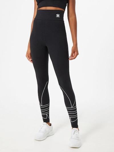 ADIDAS ORIGINALS Leggings i sort / hvid, Modelvisning