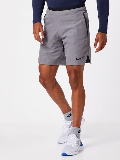 NIKE Športne hlače 'FLEX REPEL NPC' | pegasto siva / črna barva, Prikaz modela
