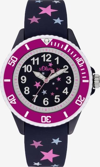 s.Oliver Quarzuhr in dunkelblau / pink, Produktansicht