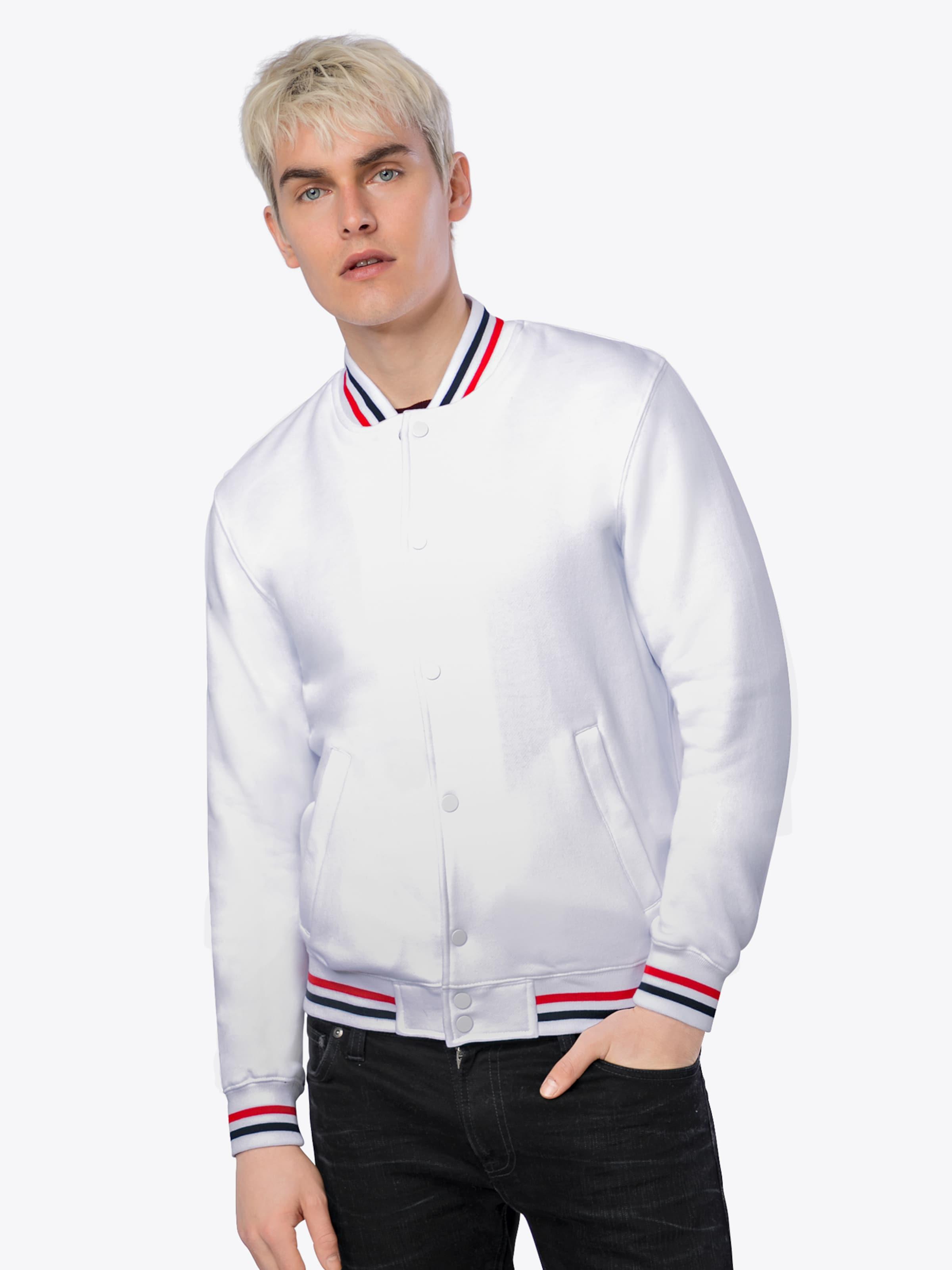 Sweat Classics Urban tone 3 College Weiß Jacket In NavyRot Yf7bv6gy