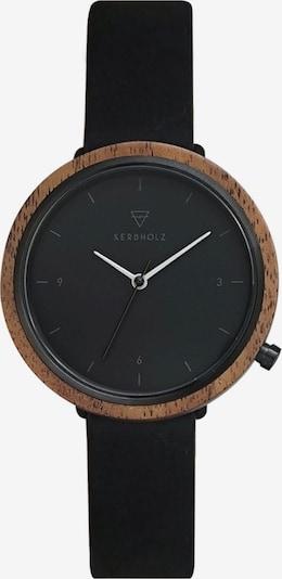 Kerbholz Armbanduhr 'Hilde' in schwarz, Produktansicht