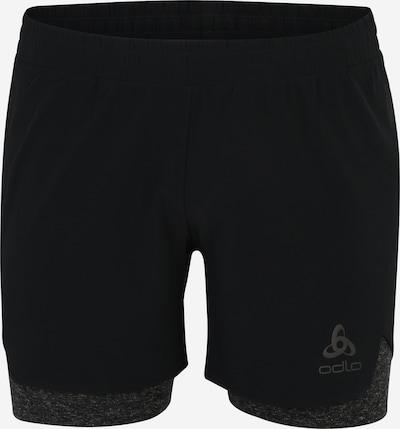 ODLO Sportshorts 'MILLENNIUM' in graumeliert / schwarz, Produktansicht