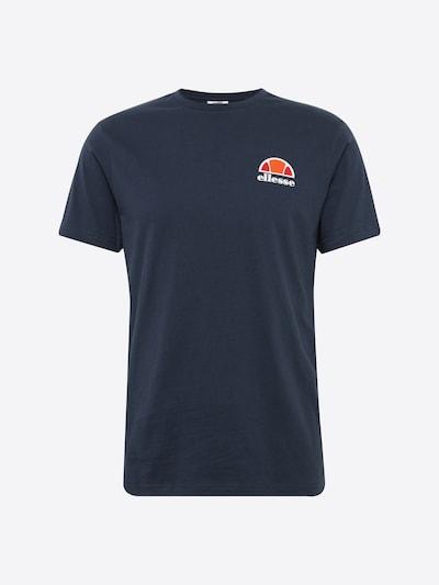 ELLESSE Shirt in dunkelblau / dunkelorange / feuerrot / weiß, Produktansicht