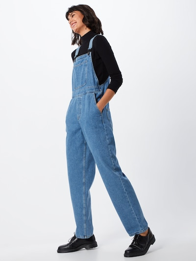 Noisy may Traksiteksad 'RILEY MOM DUNGAREE' sinine denim, Modellivaade