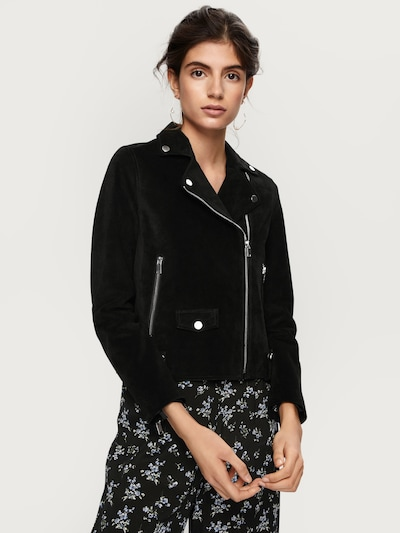 EDITED Lederjacke 'Davia' in schwarz, Modelansicht