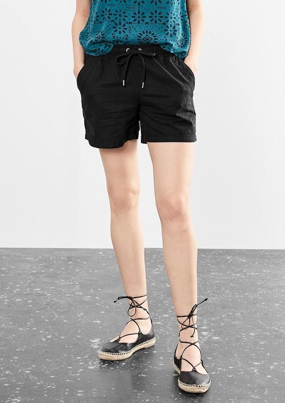 Q/S designed by Shorts aus Leinen-Mix