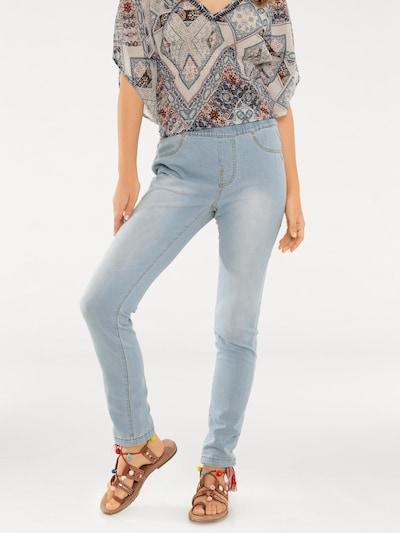 heine Jeans-Leggings in hellblau, Modelansicht