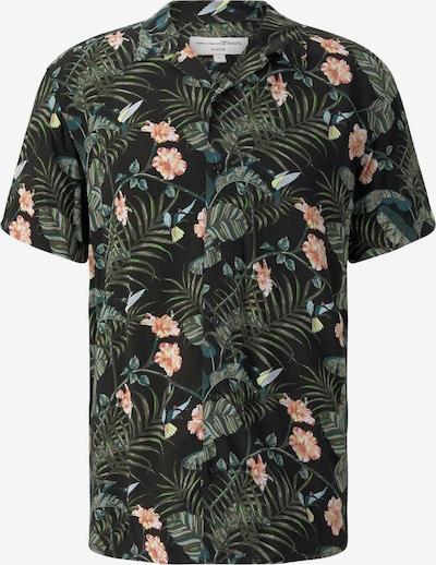 TOM TAILOR DENIM Hemd in grün / apricot / schwarz, Produktansicht