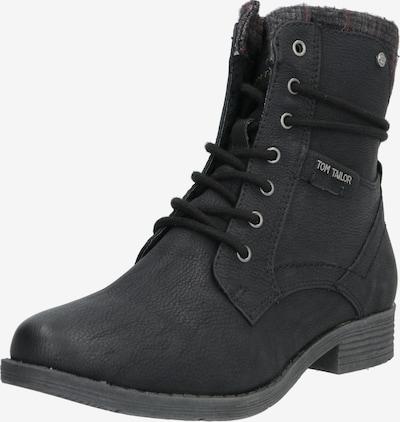 Suvarstomieji kulkšnis dengiantys batai iš TOM TAILOR , spalva - juoda: Vaizdas iš priekio