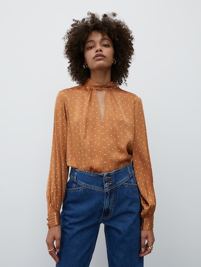 EDITED Bluse 'Ashley' in orange, Modelansicht